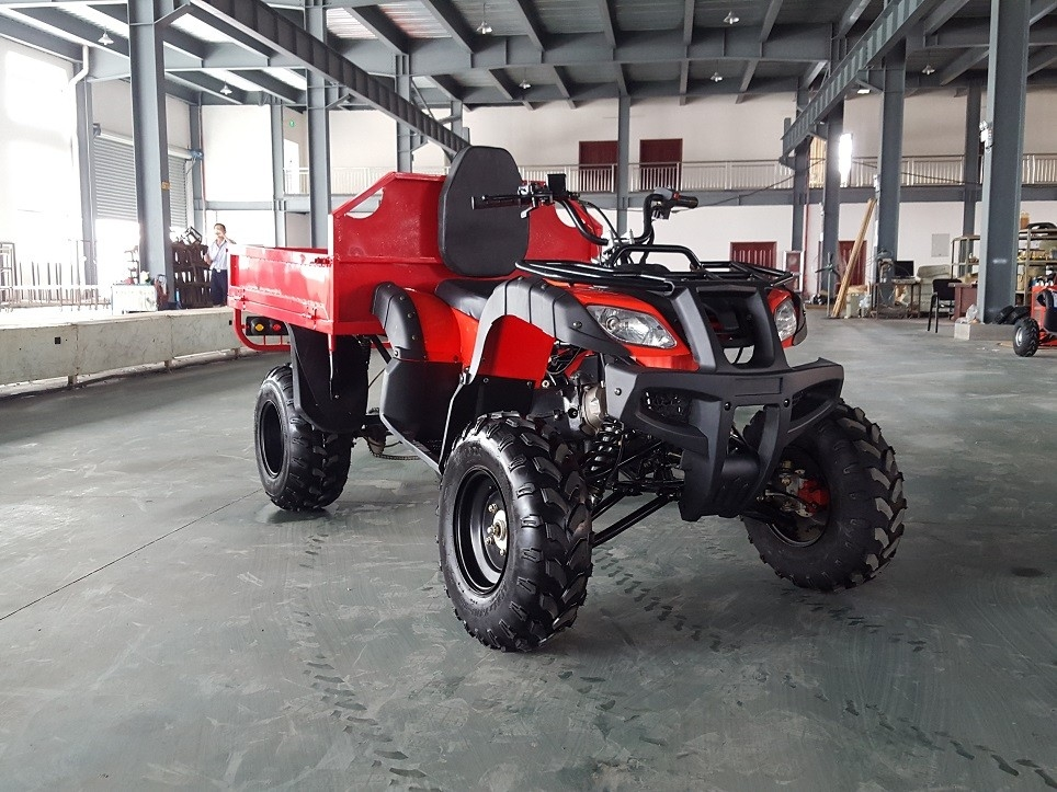 Red One Seat 200cc Gy6 4x4 Utility Atv Famer Tractor